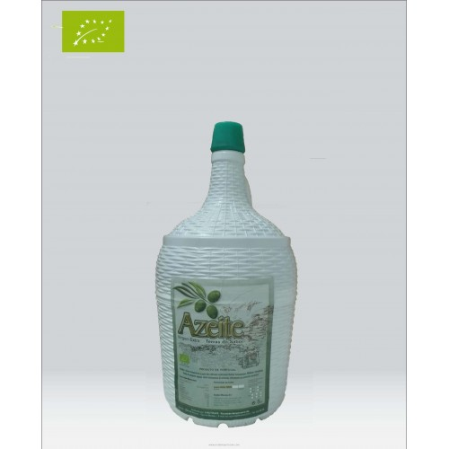 Organic Olive Oil in Glass Bottle 5 Liters Terras do Sabor