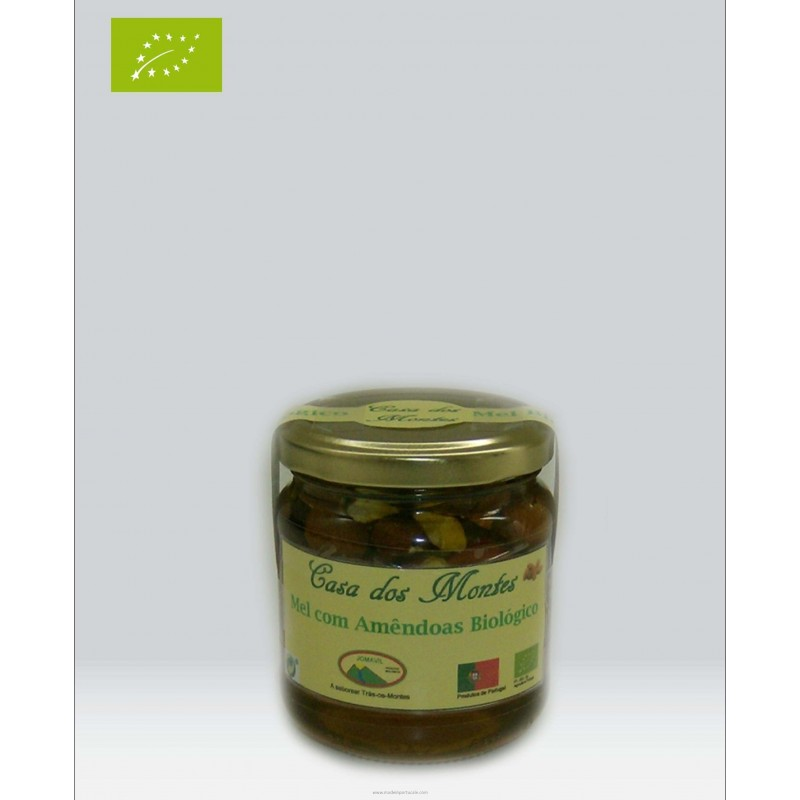 Organic Honey of Rosemary With Pieces of Almonds 0.25 kilo