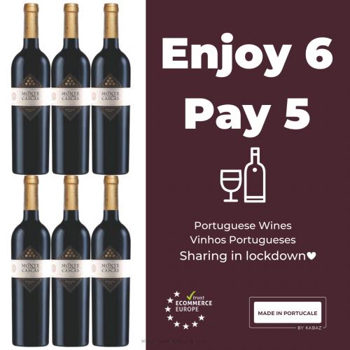 Monte Cascas Grande Reserva Douro DOC Red Wine 2013 Pack 5+1