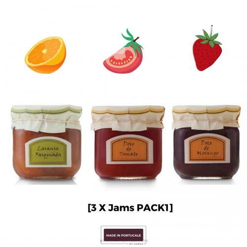 Pack Fruit Jams (01) 3 X 230Grs Strawberry+Orange+Tomato