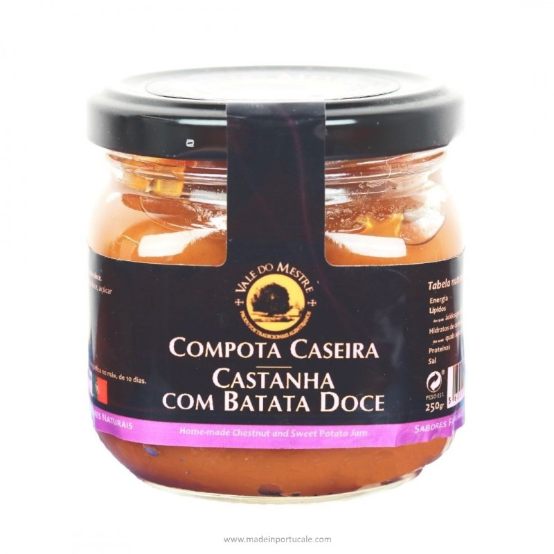 COMPOTA DE CASTANHA COM BATATA-DOCE Vale do Mestre 250 Grs.