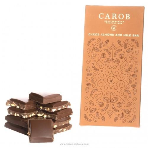 Carob, Almond and Milk Bar (100g)