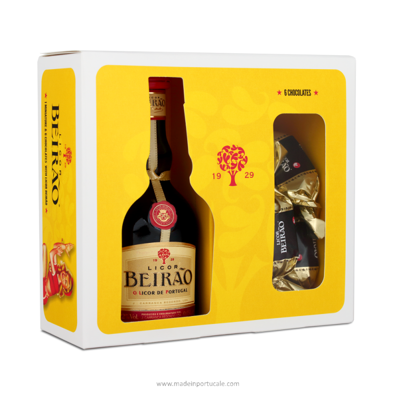 1 Beirão Liqueur - miniature kit and chocolates with BL